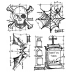 Tim Holtz Cling Mount Stamps - Halloween Blueprint CMS134