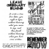 Tim Holtz Cling Mount Stamps - Random Quotes CMS182