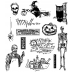 Tim Holtz Cling Mount Stamps - Mini Halloween 4 CMS198