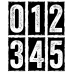 Tim Holtz Cling Mounted Stamps - Big Number Blocks CMS223