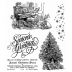 Tim Holtz Cling Mount Stamps - Christmas Magic CMS247