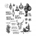 Tim Holtz Cling Mount Stamps - Holiday Drawings CMS284